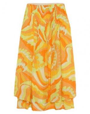 Длинная юбка ATTIC AND BARN. Цвет: желтый