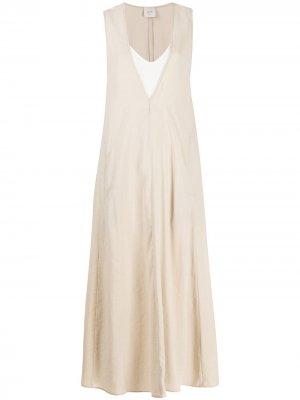 Платье с жатым эффектом Alysi. Цвет: нейтральные цвета