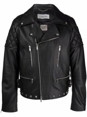 Байкерская куртка с логотипом из коллаборации Gallery Dept. LANVIN. Цвет: черный