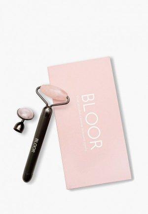 Роллер для лица Bloor из розового кварца с функцией вибрации. Цвет: черный