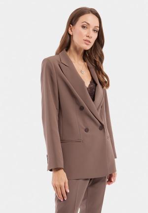 Пиджак Vladi Collection. Цвет: коричневый