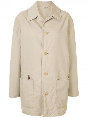 Однобортное пальто pre-owned Hermès. Цвет: нейтральные цвета