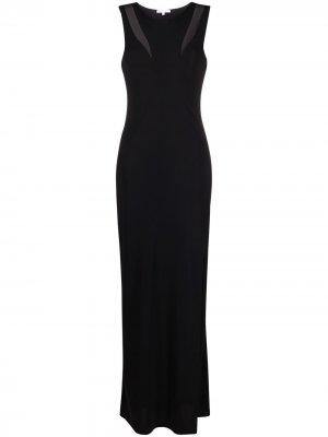 Платье без рукавов с боковым разрезом Patrizia Pepe. Цвет: черный