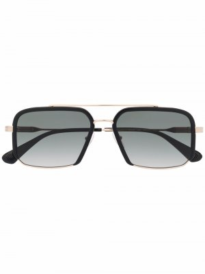 Солнцезащитные очки в квадратной оправе GIGI STUDIOS. Цвет: черный