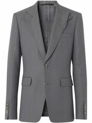 Однобортный пиджак Burberry. Цвет: серый