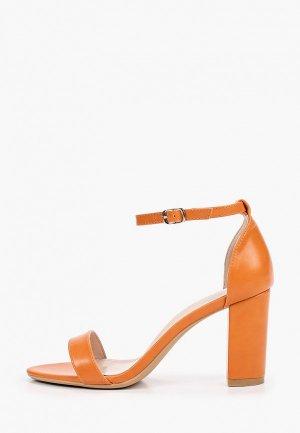 Босоножки Ideal Shoes. Цвет: оранжевый