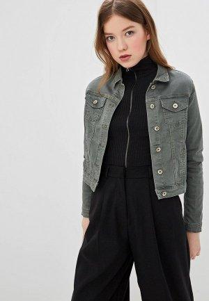 Куртка джинсовая Hailys Haily's. Цвет: хаки
