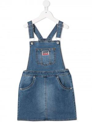 Levis Kids платье-комбинезон Levi's. Цвет: синий