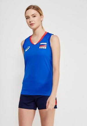 Майка спортивная ASICS WOMAN RUSSIA SLEEVELESS TEE. Цвет: синий