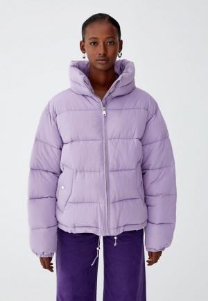 Куртка утепленная Pull&Bear. Цвет: фиолетовый