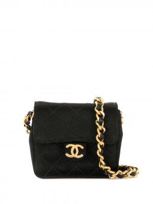 Стеганая мини-сумка на плечо 1990-х годов Chanel Pre-Owned. Цвет: черный