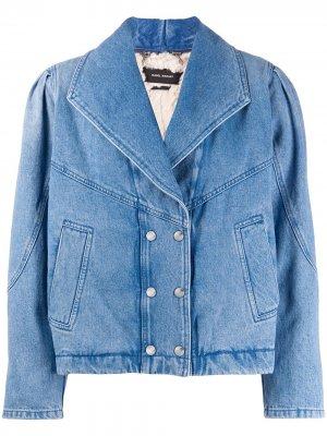 Двубортная джинсовая куртка Isabel Marant. Цвет: синий