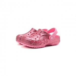 Сабо Baya Glitter Crocs. Цвет: розовый