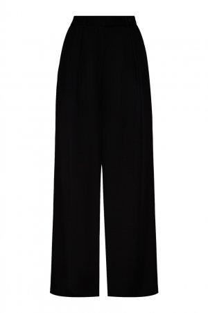 Шерстяные брюки черного цвета Chapurin. Цвет: черный