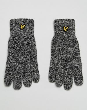 Черные перчатки с логотипом Lyle & Scott. Цвет: черный