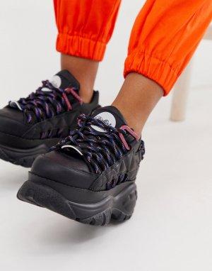 Черные кроссовки на шнуровке London-Черный Buffalo