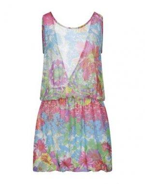 Короткое платье FRACOMINA. Цвет: светло-зеленый
