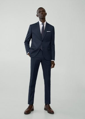 Костюмные брюки super slim fit - Paulo Mango. Цвет: синяя ночь