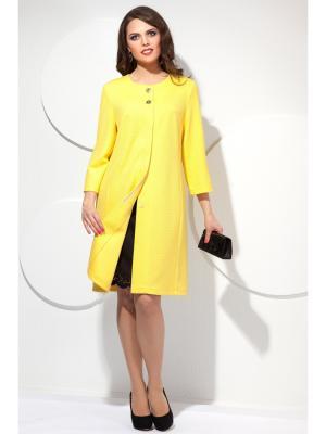 Пальто Modellos. Цвет: желтый