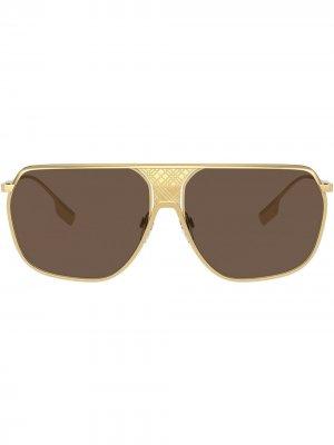 Солнцезащитные очки Adam Burberry Eyewear. Цвет: коричневый