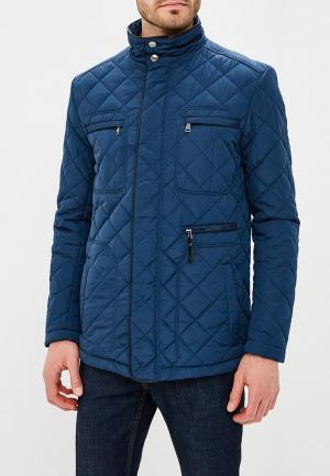 Куртка утепленная Al Franco MP002XM0YI6U. Цвет: синий