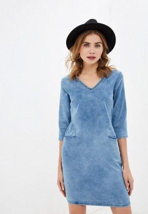 Платье джинсовое Top Secret. Цвет: голубой