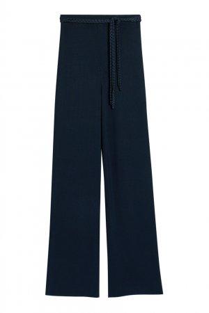 Синие трикотажные брюки-клеш Claudie Pierlot. Цвет: синий
