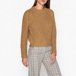Пуловер без выреза из трикотажа DANIELLO PAUL & JOE SISTER. Цвет: темно-бежевый