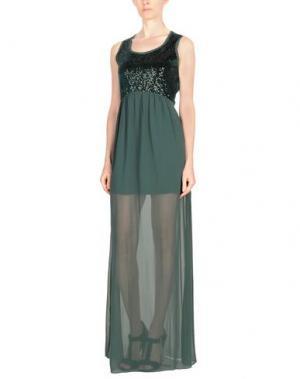 Длинное платье FRANCESCA FERRANTE. Цвет: темно-зеленый