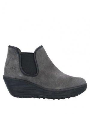 Полусапоги и высокие ботинки FLY LONDON. Цвет: серый