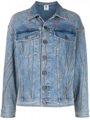 Джинсовая куртка с контрастной строчкой M Missoni. Цвет: синий