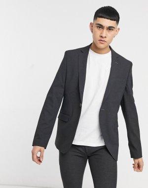 Серый однотонный зауженный пиджак Bolongaro Trevor