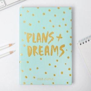 Ежедневник plans + dreams, 96 л, искусственная кожа ArtFox
