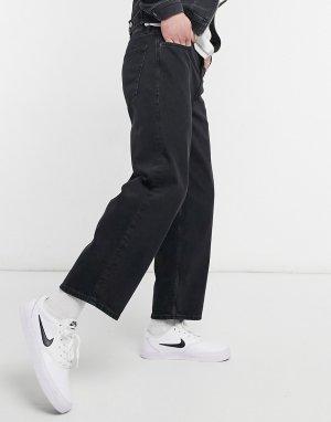 Винтажные черные джинсы с широкими штанинами Intelligence Rob-Черный цвет Jack & Jones