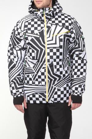 Сноубордическая куртка HYBRID Five seasons. Цвет: серый принт