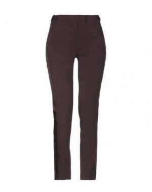 Повседневные брюки JO NO FUI. Цвет: баклажанный