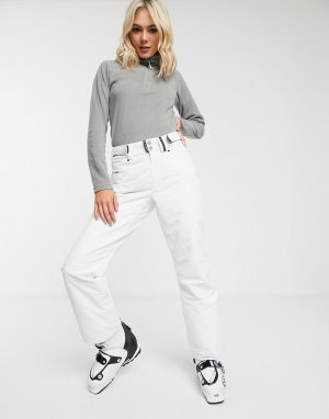 Белые лыжные брюки Glow Surftex-Белый Surfanic