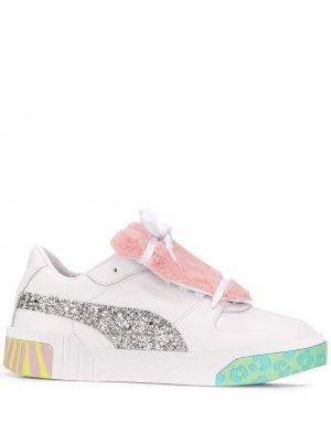 Кроссовки с блестками Puma X Sophia Webster. Цвет: белый