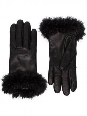 Декорированные перчатки Boa Agnelle. Цвет: черный