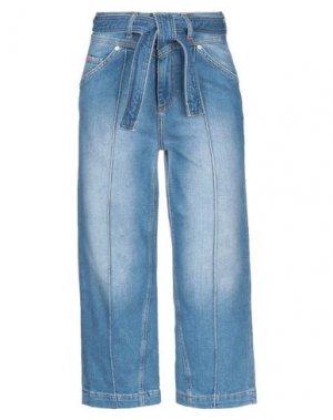 Джинсовые брюки-капри MAX & CO.. Цвет: синий
