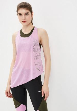 Майка спортивная PUMA A.C.E. Slogan Tank. Цвет: фиолетовый
