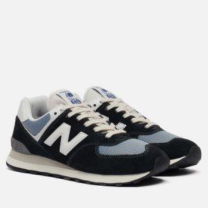 Мужские кроссовки ML574HF2 Vintage Brights New Balance. Цвет: чёрный