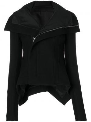 Байкерская куртка с асимметричным подолом Rick Owens. Цвет: чёрный