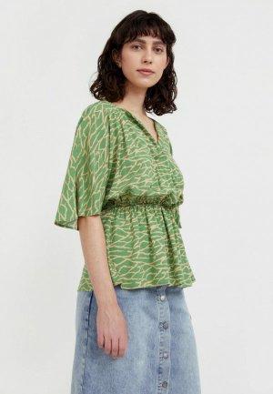Блуза Finn Flare. Цвет: зеленый