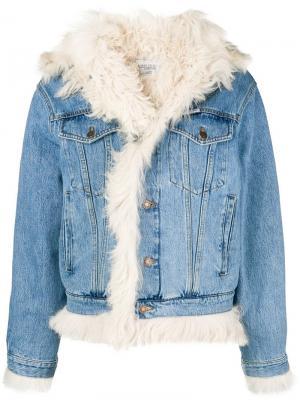 Джинсовая куртка с подкладкой из овчины Forte Dei Marmi Couture. Цвет: синий