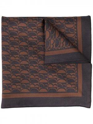 Шелковый платок с монограммой Doublet. Цвет: синий
