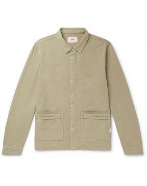 Куртка FOLK. Цвет: зеленый-милитари