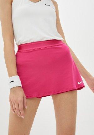 Юбка-шорты Nike W NKCT DRY SKIRT STR. Цвет: розовый