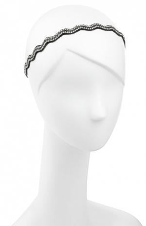 Повязка для волос Deepa Gurnani. Цвет: черный