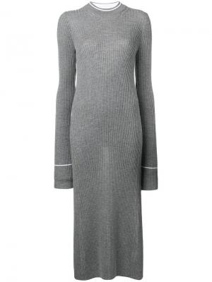 Длинное трикотажное платье Maison Margiela